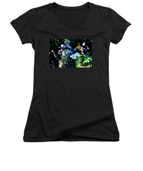 Japanese Anemone In The Afternoon Light Women's V-Neck (Athletic Fit)