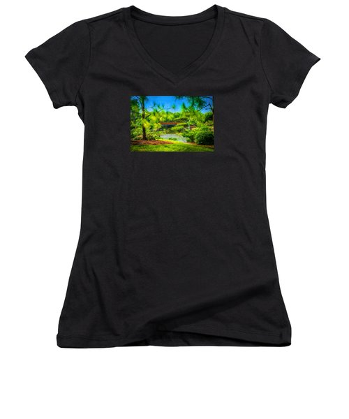 Japanese Gardens  Women's V-Neck T-Shirt