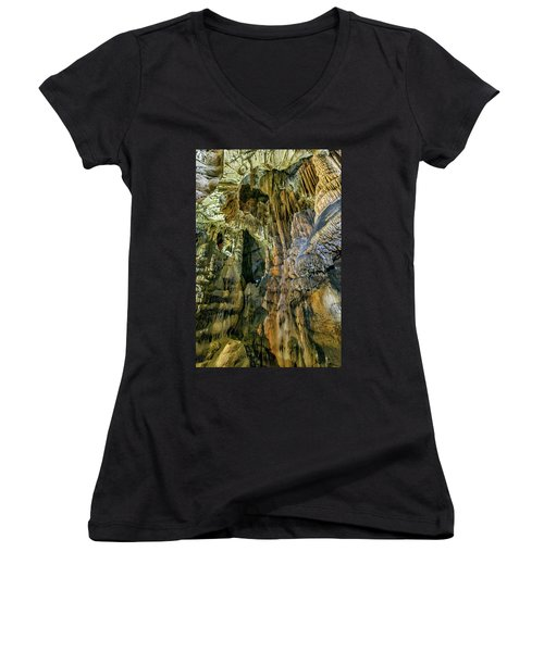 Jasovska Cave, Jasov, Slovakia Women's V-Neck T-Shirt