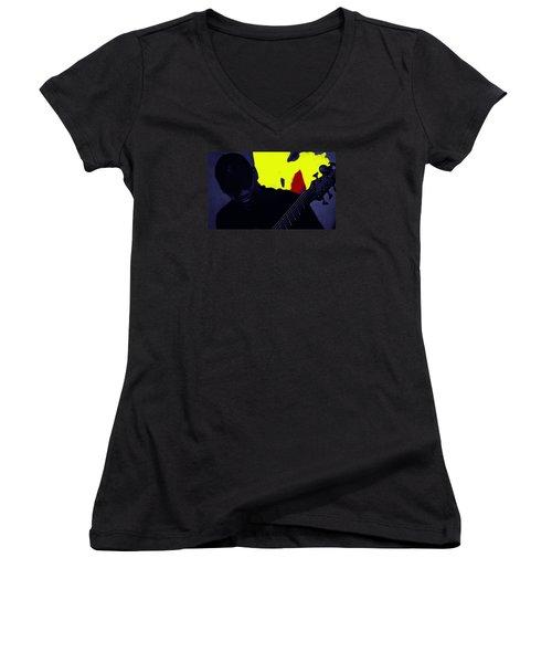 Jazz 12 Women's V-Neck T-Shirt (Junior Cut) by David Gilbert
