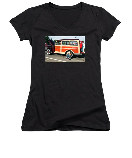 Jeepster Women's V-Neck T-Shirt (Junior Cut) by Vinnie Oakes