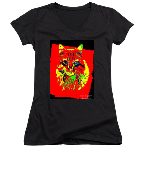 Jekyll The Cat Women's V-Neck (Athletic Fit)