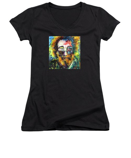 Jerry Garcia Women's V-Neck T-Shirt