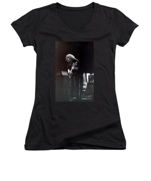 Morning Dew Women's V-Neck T-Shirt (Junior Cut) by Susan Carella