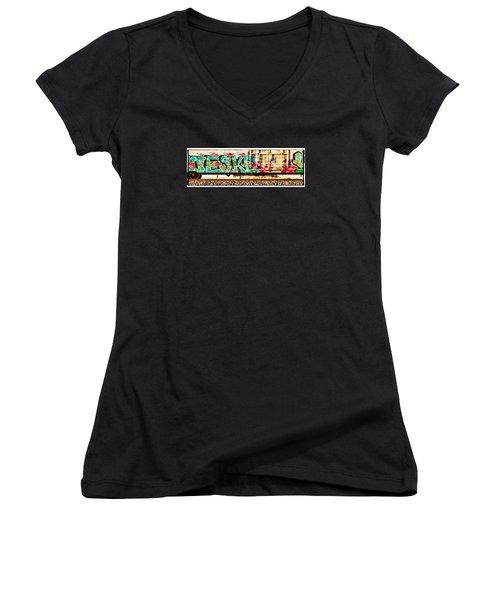 Jeske Women's V-Neck T-Shirt (Junior Cut) by Sylvia Thornton