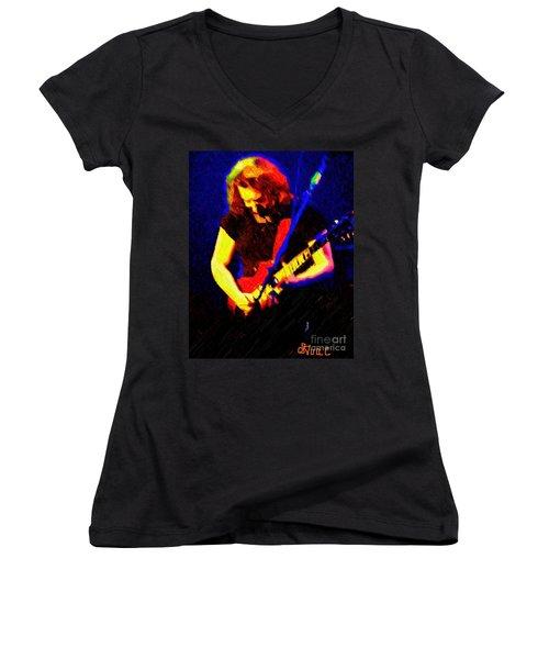 Stella Blue Women's V-Neck T-Shirt (Junior Cut) by Susan Carella