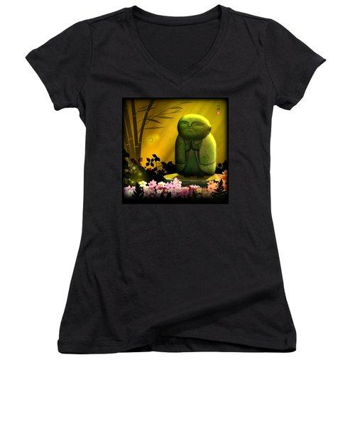 Jizo Bodhisattva Women's V-Neck T-Shirt