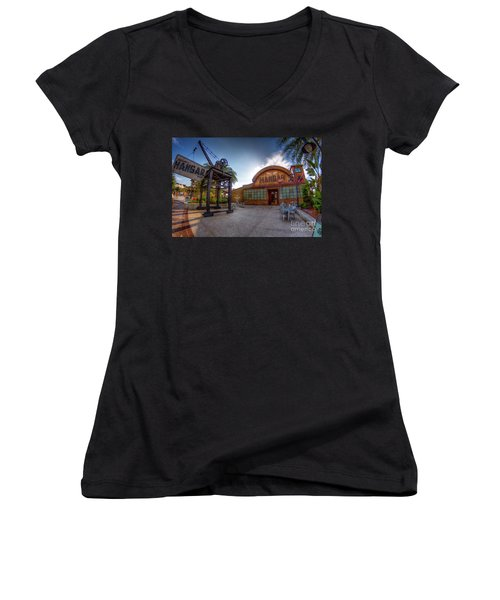 Jock Lindsey's Hangar Bar Women's V-Neck T-Shirt