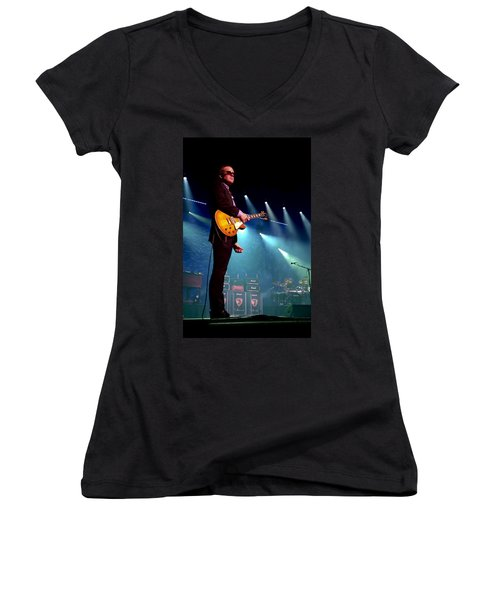 Joe Bonamassa 2 Women's V-Neck T-Shirt (Junior Cut) by Peter Chilelli