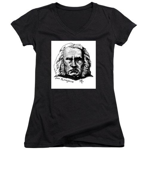 John Mcloughlin Women's V-Neck T-Shirt