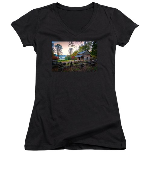 John Oliver Place In Cades Cove Women's V-Neck (Athletic Fit)
