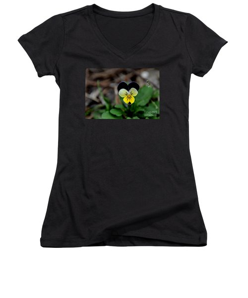 Jonny Jump Up - Relative To A Pansy Women's V-Neck (Athletic Fit)