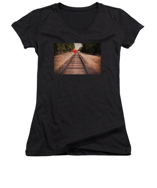Journey Women's V-Neck T-Shirt (Junior Cut) by Tom Mc Nemar