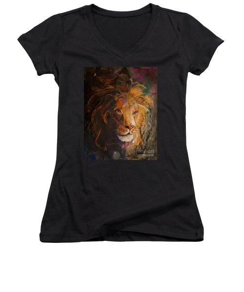 Jungle Lion Women's V-Neck