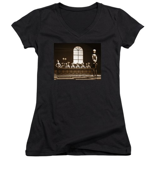 Jury Of Your Peers Women's V-Neck T-Shirt (Junior Cut) by Bob Orsillo