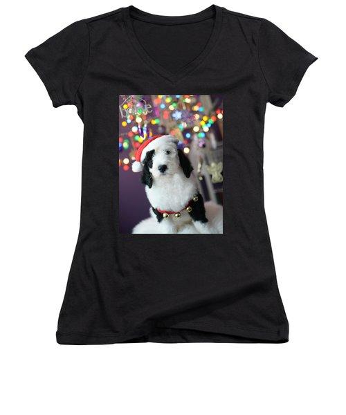Just Believe Women's V-Neck T-Shirt (Junior Cut)
