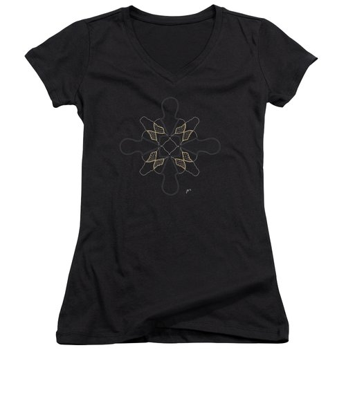 Just Dotty - Dark T-shirt Women's V-Neck T-Shirt (Junior Cut) by Lori Kingston