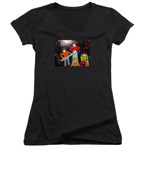 Just Rippin It Women's V-Neck T-Shirt (Junior Cut) by Sharyn Winters