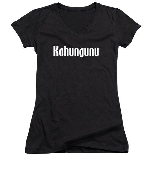 Kahungunu Women's V-Neck T-Shirt (Junior Cut) by Regan Butler