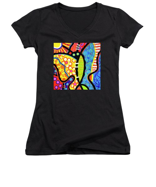 Kaleidoscope Butterfly Women's V-Neck