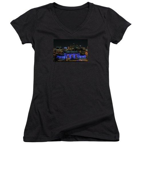 Kansas City In Royal Blue Women's V-Neck T-Shirt
