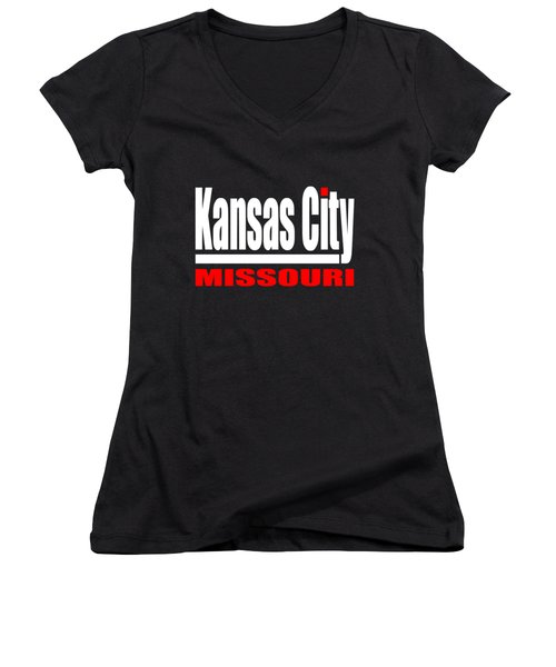 Kansas City Missouri Design Women's V-Neck (Athletic Fit)