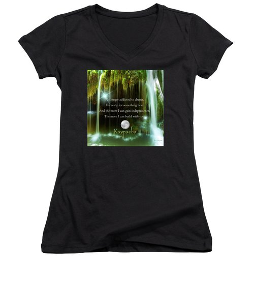 Kaypacha - November 10, 2016 Women's V-Neck T-Shirt (Junior Cut) by Richard Laeton
