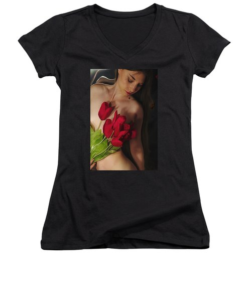 Kazi1128 Women's V-Neck T-Shirt (Junior Cut)