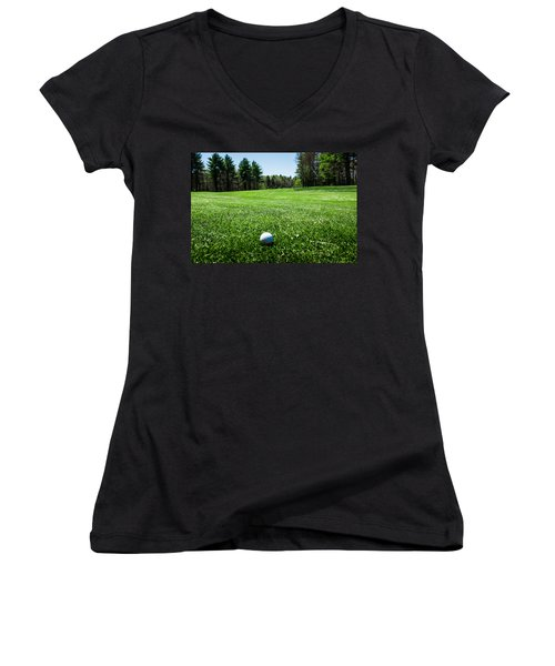 Keep Your Eye On The Ball Women's V-Neck