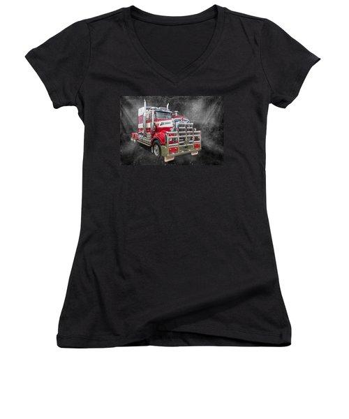 Kenny Women's V-Neck T-Shirt (Junior Cut) by Keith Hawley