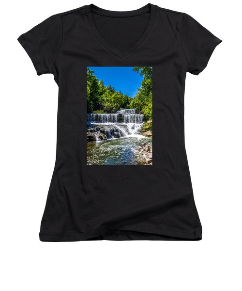 Keuka Outlet Waterfall Women's V-Neck T-Shirt