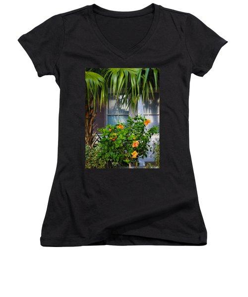 Key West Garden Women's V-Neck T-Shirt