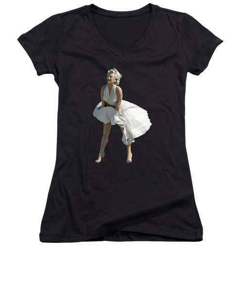 Key West Marilyn - Special Edition Women's V-Neck T-Shirt (Junior Cut) by Bob Slitzan