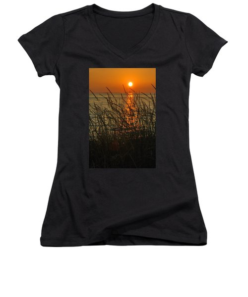 Key West Sunset Women's V-Neck