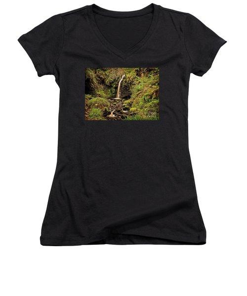 Kielder Forest Waterfall Women's V-Neck