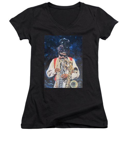 American History. .  Rahsaan  Roland Kirk  Women's V-Neck (Athletic Fit)