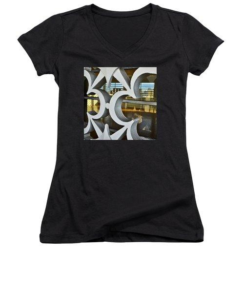 Kitsch Urban Details Women's V-Neck T-Shirt (Junior Cut) by Carlos Alkmin