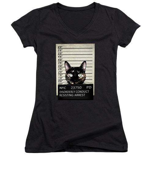 Kitty Mugshot Women's V-Neck