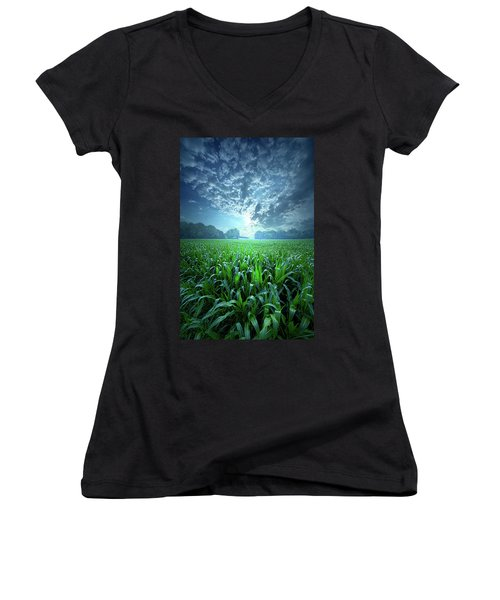 Knee High Women's V-Neck