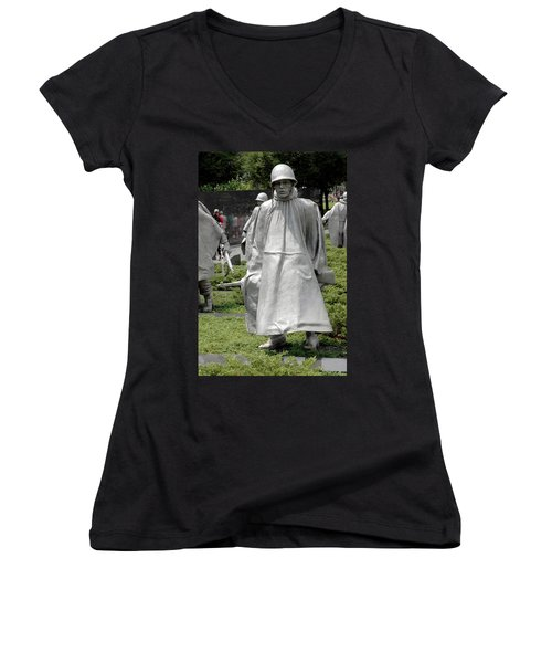 Korean War Memorial Women's V-Neck T-Shirt