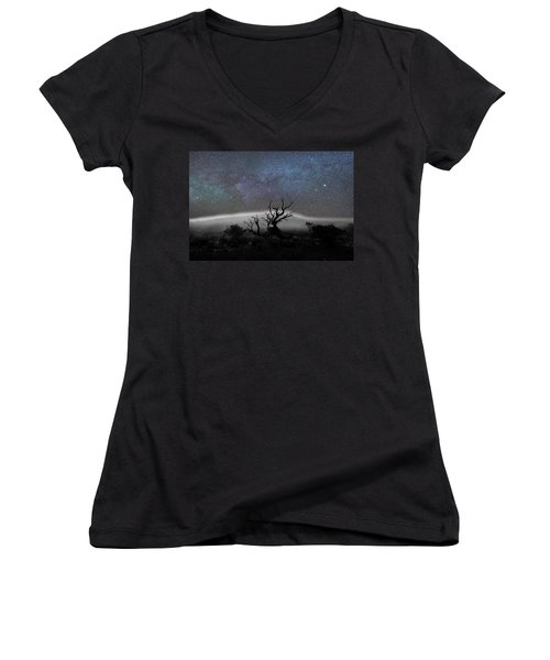 Kumulipo And The Sky Women's V-Neck T-Shirt