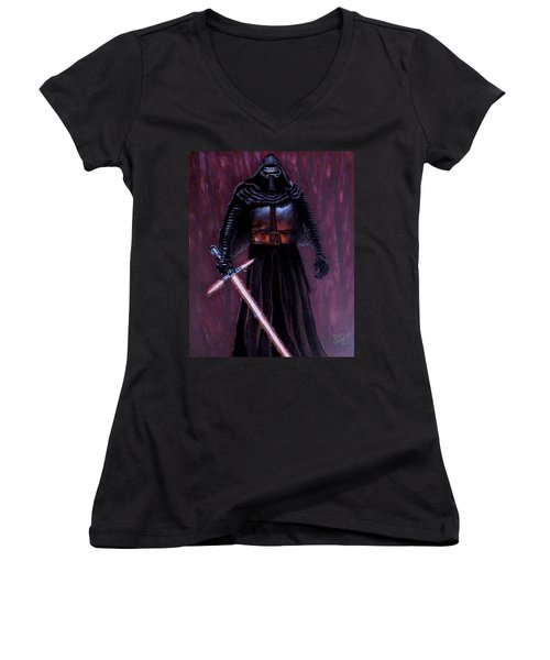 Kylo In Red Women's V-Neck