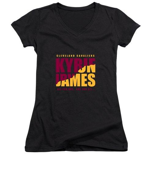 Kyriebron Women's V-Neck T-Shirt (Junior Cut) by Augen Baratbate