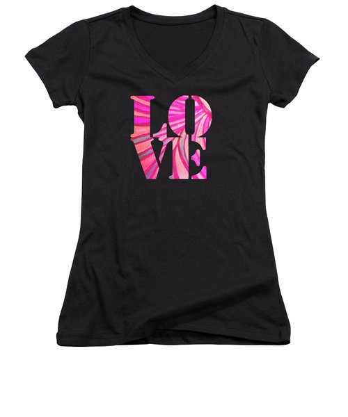 L O V E  Women's V-Neck (Athletic Fit)