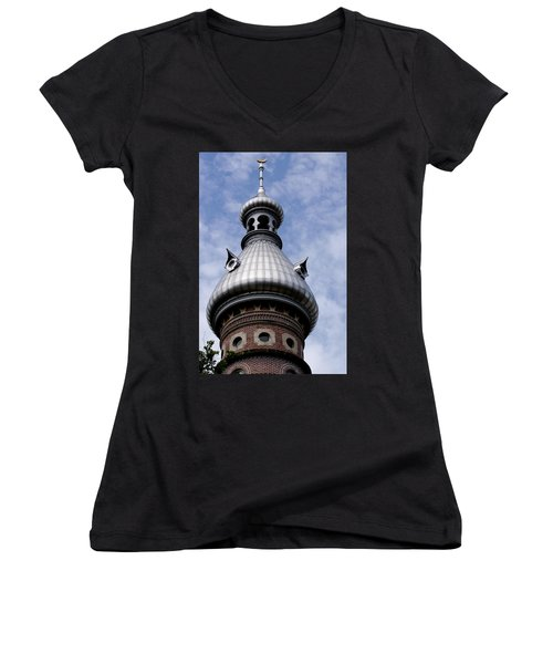 Women's V-Neck T-Shirt (Junior Cut) featuring the photograph La Cupola by Ivete Basso Photography