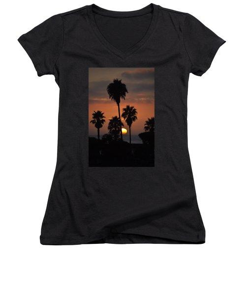 La Jolla Sunset Women's V-Neck