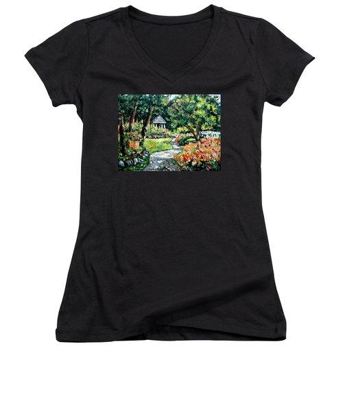 La Paloma Gardens Women's V-Neck T-Shirt