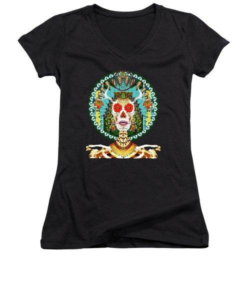 La Reina De Los Muertos Women's V-Neck