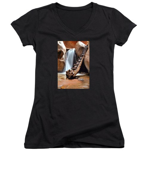 Ladder To Beyond Women's V-Neck T-Shirt