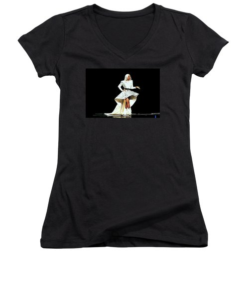 Lady Gaga Women's V-Neck T-Shirt